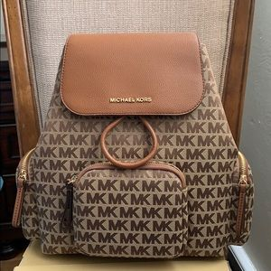 Michael Kors Large Abbey Cargo Backpack Brown